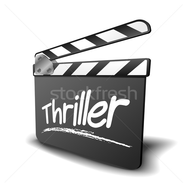 Stock photo: clapper board thriller