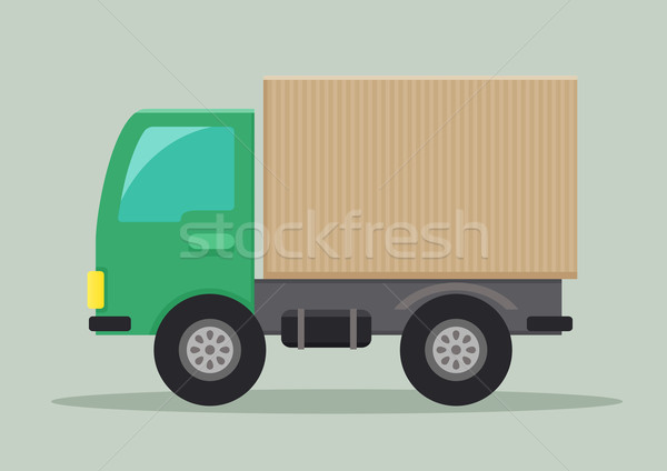 Vrachtwagen gedetailleerd illustratie eps10 vector business Stockfoto © unkreatives