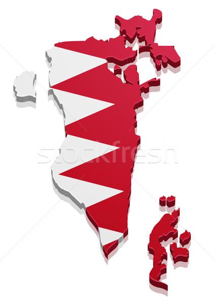 Harita Bahreyn ayrıntılı örnek bayrak eps10 Stok fotoğraf © unkreatives
