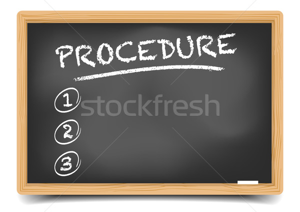 List Procedure Stock photo © unkreatives