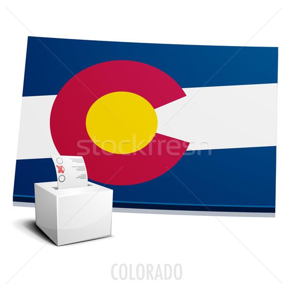 Térkép Colorado részletes illusztráció eps10 vektor Stock fotó © unkreatives