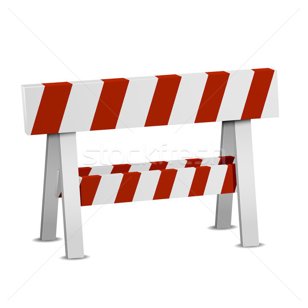 Red White Roadblock Stock photo © unkreatives