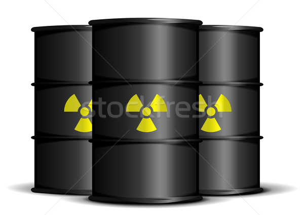 Radyoaktif atık örnek siyah uyarı etiketler Stok fotoğraf © unkreatives