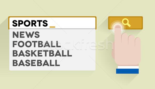 Recherche sport illustration bar Photo stock © unkreatives