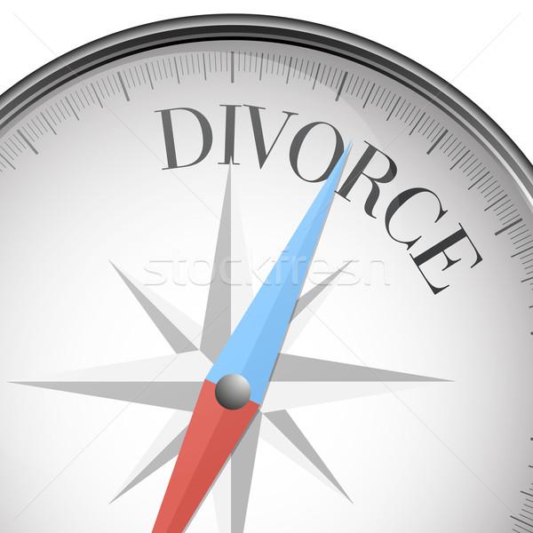Iránytű válás részletes illusztráció szöveg eps10 Stock fotó © unkreatives