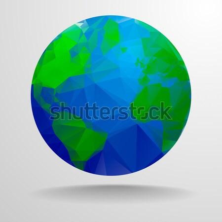polygonal globe Stock photo © unkreatives