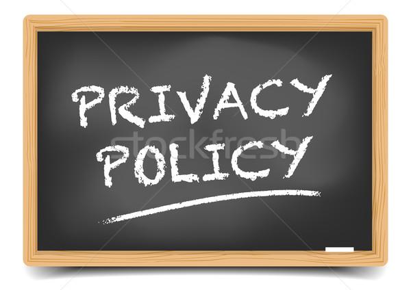 Tablicy prywatność polityka szczegółowy ilustracja tekst Zdjęcia stock © unkreatives