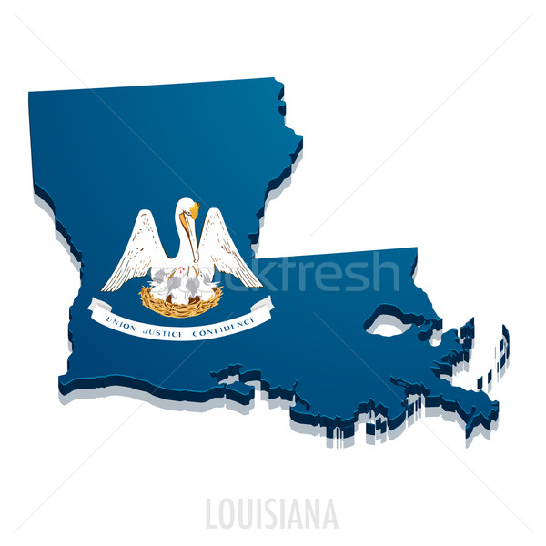Map of Louisiana Stock photo © unkreatives