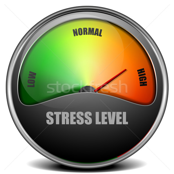 Stock photo: Stress Level Meter gauge