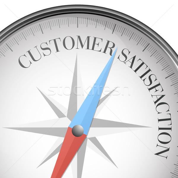 Bússola satisfação do cliente detalhado ilustração texto eps10 Foto stock © unkreatives