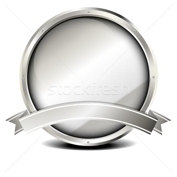 Metal marco banner ilustración plata eps10 Foto stock © unkreatives