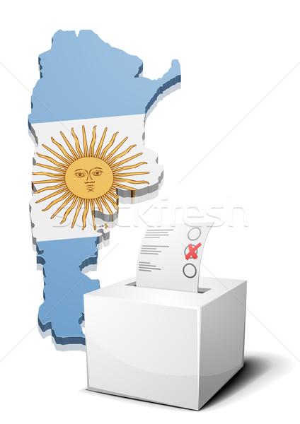 Argentine détaillée illustration carte eps10 vecteur Photo stock © unkreatives