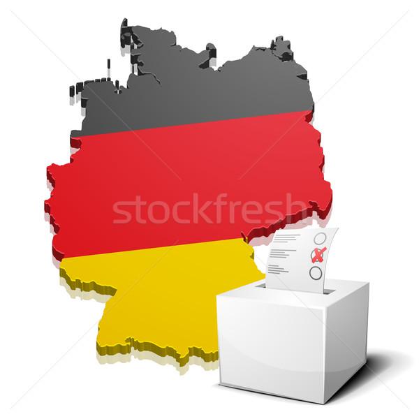 ballotbox Germany Stock photo © unkreatives
