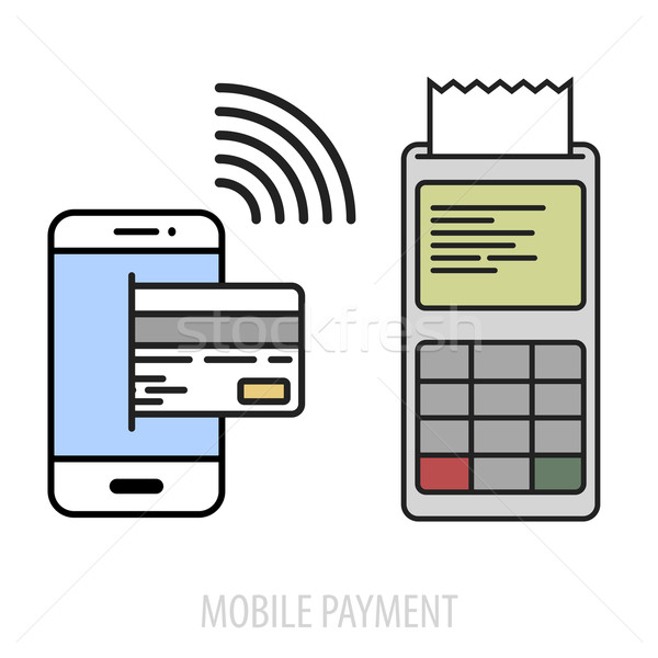 mobile payment concept Stock photo © unkreatives