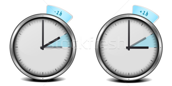 Temps illustration horloge technologie Photo stock © unkreatives