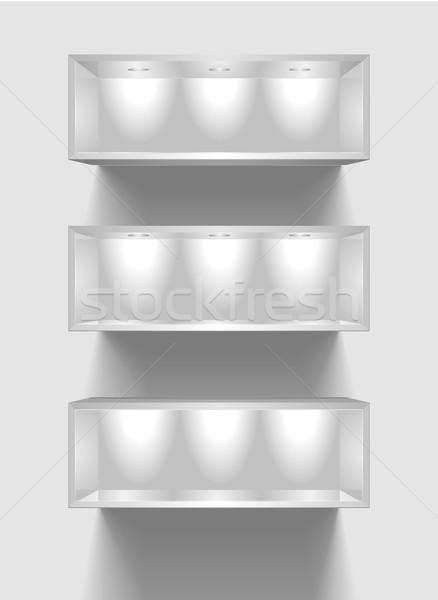 exhibition shelves Stock photo © unkreatives