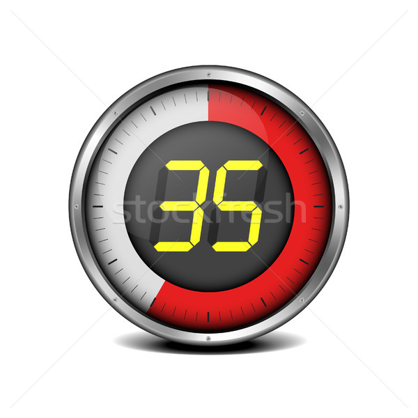 таймер цифровой иллюстрация металл числа часы Сток-фото © unkreatives