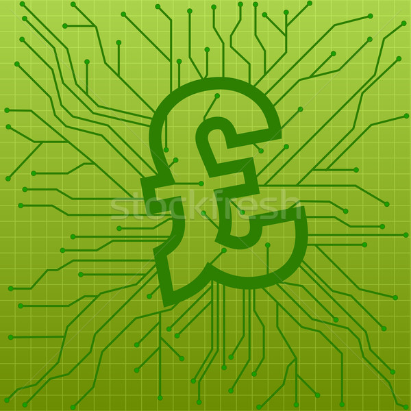 Circuit board pond illustratie groene teken symbool Stockfoto © unkreatives