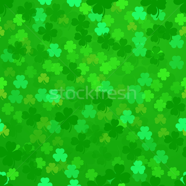 Shamrock illustratie naadloos patroon eps10 natuur Stockfoto © unkreatives