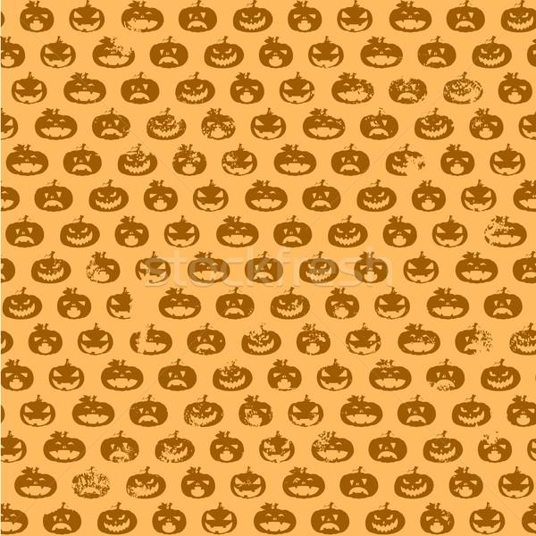 Zucca di halloween pattern dettagliato illustrazione senza soluzione di continuità Foto d'archivio © unkreatives