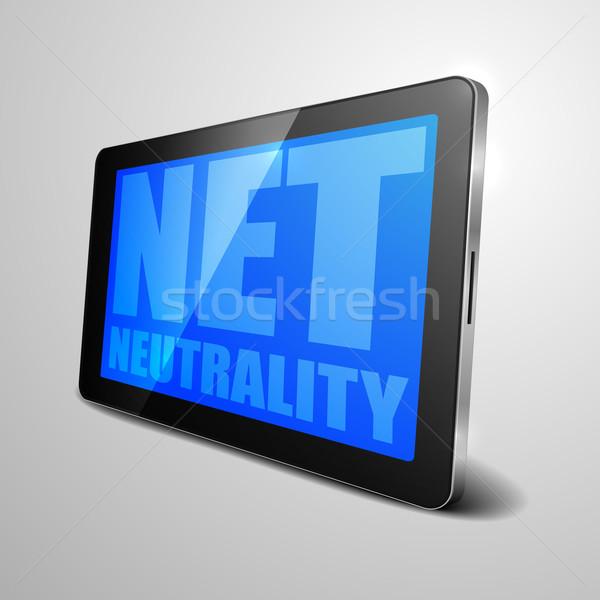 Stock photo: tablet Net Neutrality