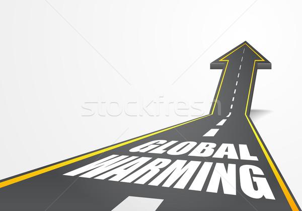 Drogowego globalne ocieplenie szczegółowy ilustracja autostrady w górę Zdjęcia stock © unkreatives