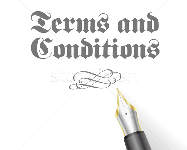 Terms and Conditions Stock photo © unkreatives