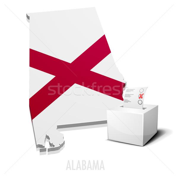 Térkép Alabama részletes illusztráció eps10 vektor Stock fotó © unkreatives