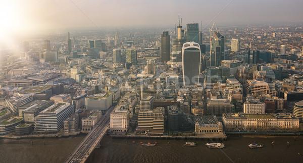 Сток-фото: Cityscape · Лондон · антенна · панорамный · мнение