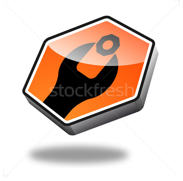 Taste Wartung orange Perspektive Internet Technologie Stock foto © unkreatives