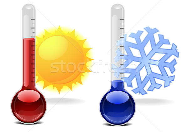 thermometers with symbols Stock photo © unkreatives