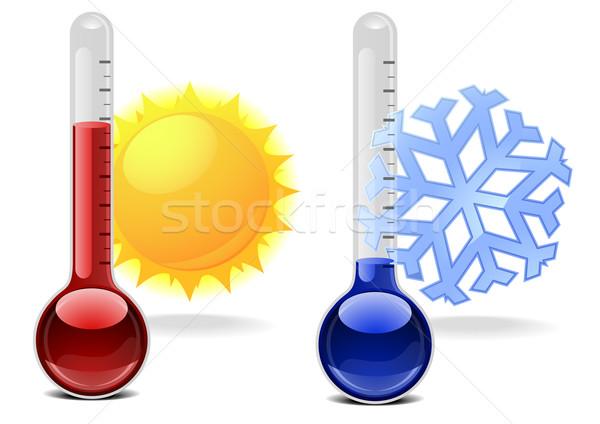 Símbolos ilustración copo de nieve sol salud fondo Foto stock © unkreatives