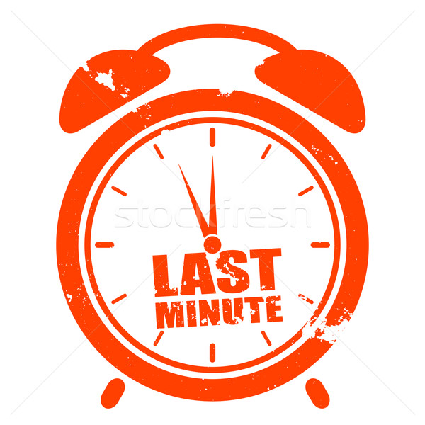 clock last minute Stock photo © unkreatives