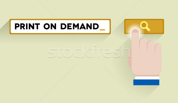 search print on demand Stock photo © unkreatives