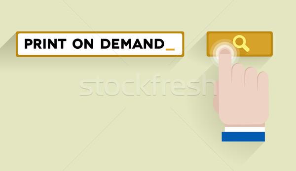 Wyszukiwania wydruku popyt ilustracja bar Zdjęcia stock © unkreatives