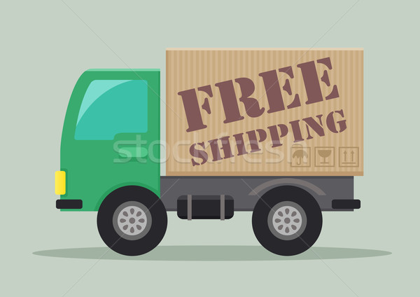 delivery truck free shipping Stock photo © unkreatives
