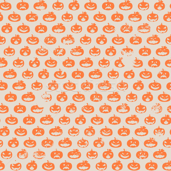 halloween pumpkin pattern Stock photo © unkreatives