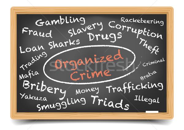 организованный преступление подробный иллюстрация доске Сток-фото © unkreatives