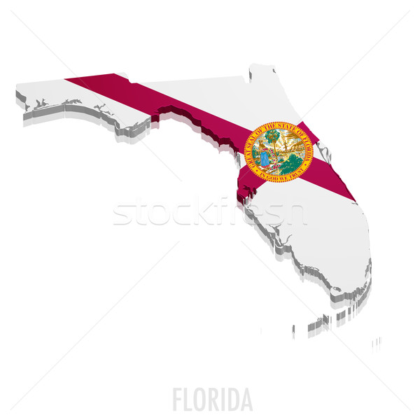 Map of Florida Stock photo © unkreatives