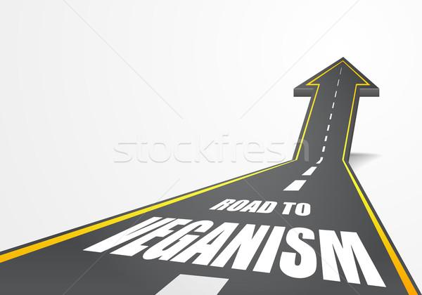 road to Veganism Stock photo © unkreatives