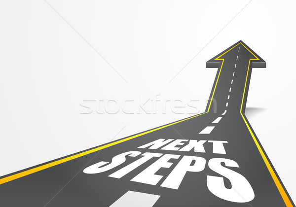 road Next Steps Stock photo © unkreatives