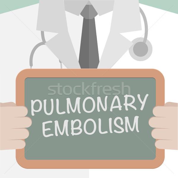 Board Pulmonary Embolism Stock photo © unkreatives