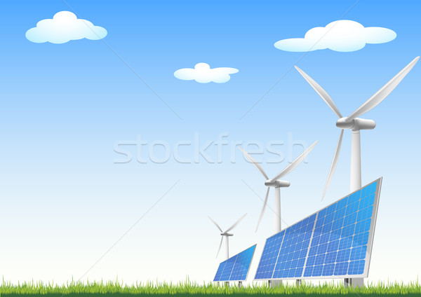renewable energy sources Stock photo © unkreatives