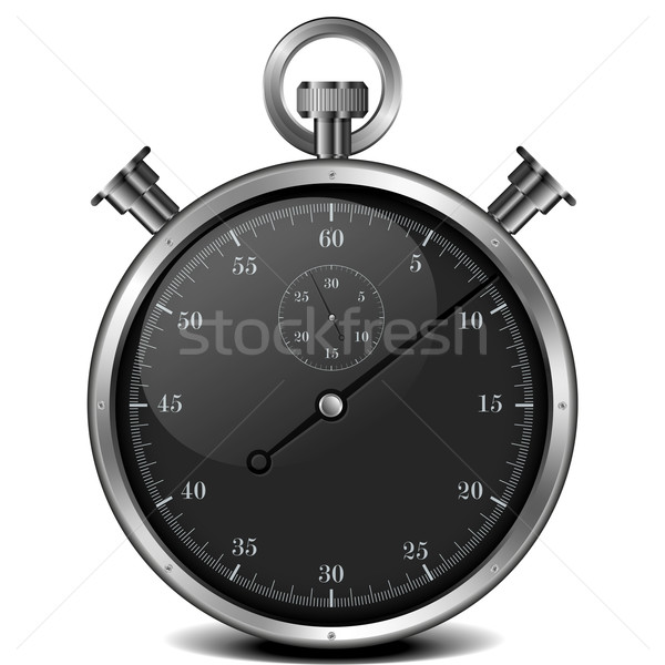 Stoppuhr_black Stock photo © unkreatives