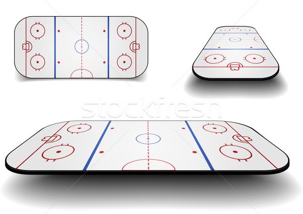 set icehockey court Stock photo © unkreatives