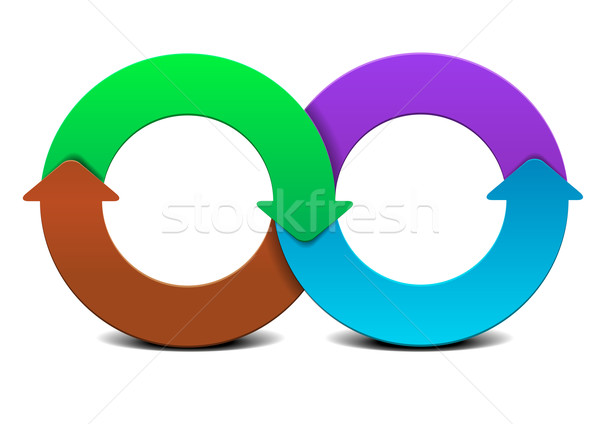infinity circle infographic Stock photo © unkreatives
