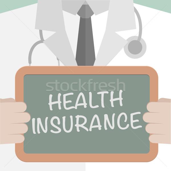 Seguro de saúde ilustração médico lousa Foto stock © unkreatives