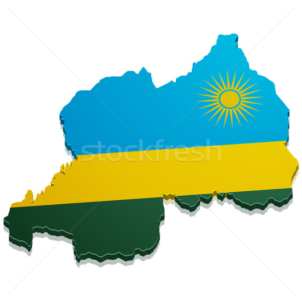 Map Rwanda Stock photo © unkreatives