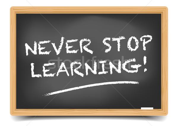 Asla durdurmak öğrenme ayrıntılı örnek tahta Stok fotoğraf © unkreatives