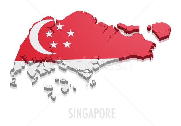 Map Singapore vector illustration © Felix Pergande (unkreatives ...